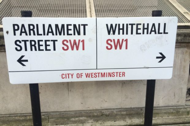 Parliament Street Whitehall sign