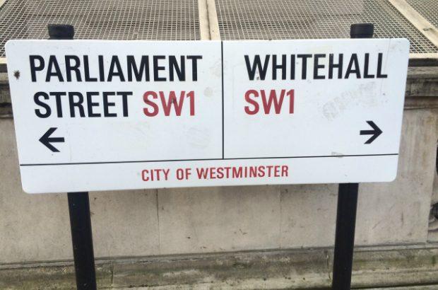 Parliament Street Whitehall sign